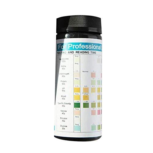 BEAUTYBIGBANG 1 Box 100 Streifen Urinalysis Reagenz Testpapier 10 Parameter-Teststreifen Leukozyten, Nitrit, Urobilinogen, Protein, pH-Wert