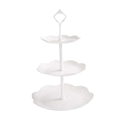 Gaosu Dessert Cake Stand, Plastic Pastry Stand, Small Cupcake Stand, Cookie Tray Rack, Candy Buffet Set Up, Fruit Plate and Trays(Round)
