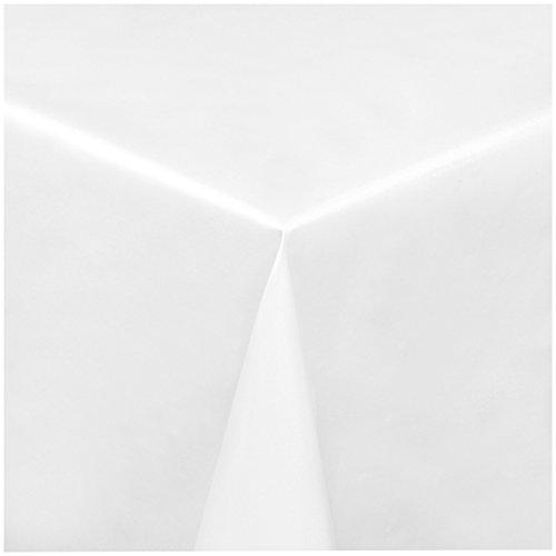 TEXMAXX Wachstuchtischdecke Wachstischdecke Wachstuch Tischdecke abwaschbar (100-00) - 220 x 140 cm - PVC Tischdecke abwischbar, Uni Muster in Weiss