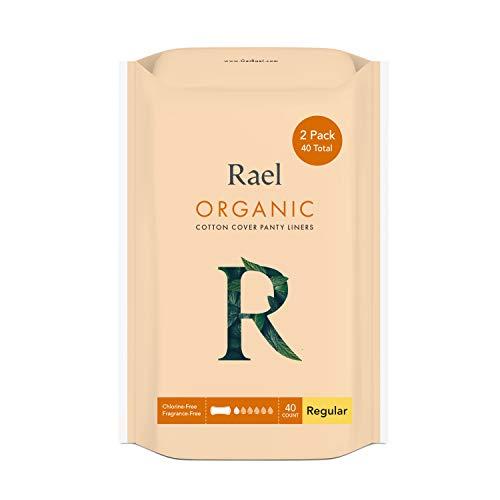 Rael 100% coton bio Regular unités–non parfumées Protections hygiéniques–Naturelle protège-slips Quotidiennes