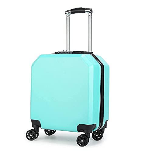 QIXIAOCYB Maleta con carrito de 18 pulgadas para niños con contraseña con cerradura de combinación TSA incorporada, ideal para la escuela y viajes G (color: F)