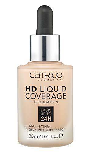 CATRICE Hd Liquid Coverage Base De Maquillaje, Tono 020 - 30 Ml, Rose Beige, Vanilla