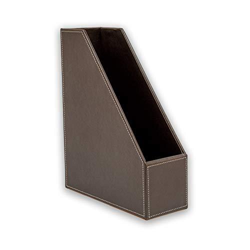 Osco BPUMR1 Luxus Faux Leder, Schreibtischzubehör und Ablage, braun