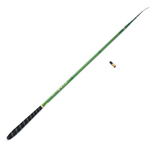 lehaha Vara de pesca 3,6 – 7,2 m, haste de pesca telescópica ultraleve de fibra de carbono