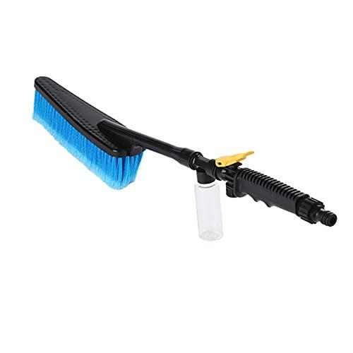 LOPQOI Auto Exterior Retráctil Long Mango Agua Interruptor de Flujo de Agua Botella de Espuma Limpieza de automóvil Cepillo de Lavado de Autos (Color : Blue)