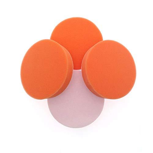 Preisvergleich Produktbild 5Pcs 5 Zoll 125MM Polieren Schwamm Pad Orange Schwamm Reiben Ruber Scheuerpad Allzweck für Auto Badezimmer Küche
