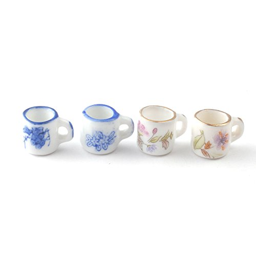 Floral Mugs, 4 pieces