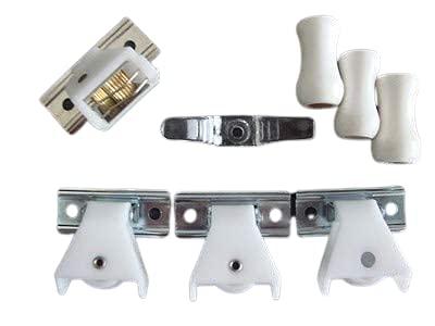 Amazing Drapery Hardware Roman/Pleated Shade KIT: 1 Cord Lock, 3 Pulleys, 3 Cord Tassels, 1 Cord Cleat