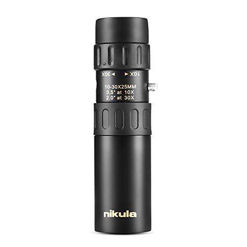 Ocamo Nikula 10-30x25 Zoom Monocular Telescopio telescópico portátil de Bolsillo Accesorios electronicos