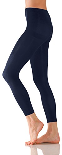 Foot Traffic Women's Microfiber Footless Tights, Soft Tights for Women (Navy)