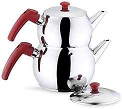 Zestaw czajniczek turecki podwójny dzbanek do herbaty czajnik podgrzewacz do płyty kuchennej podgrzewacz do herbaty podgrz...