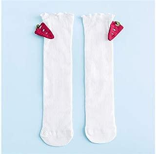 Lovely Socks Children Cotton Socks Kids Spring and Autumn Carrot Dolls Anti-Slip Mid Tube Socks (Lake Blue) Newborn Sock (Color : White, Size : S)