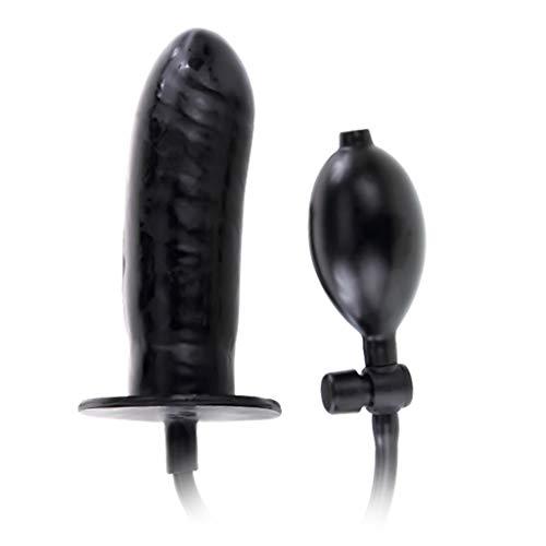 catyrre 16Cm aufblasbare Dlidö Pump Bûtts Plûgs, erweiterbare Stïmûlãtiöñs Massagegeräte Sëxx Spielzeug für Frauen Paare (schwarz)
