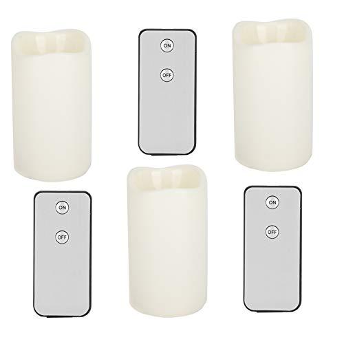 SALUTUYA Vela de Pilar de plástico Plástico para Bodas para Crear atmósferas románticas