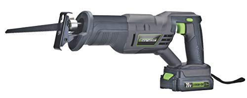 Genesis GLRS20A 20V Variable Speed Rechargeable Lithium-Ion Battery-Powered Quick-Change Reciprocating Saw with Wood Cutting Blade, Metal Cutting Blade, Battery, and Charger