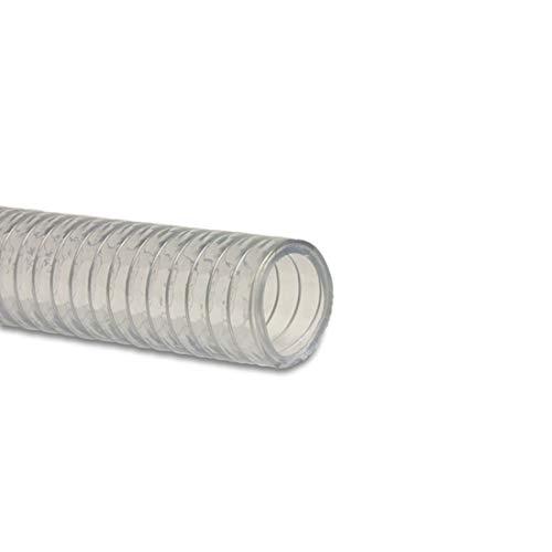 MEGASTEEL 7006717 transparenter Saug- und Druckschlauch transparent für Pumpen, Zisternen, Brunnen etc. - Meterware (Ø 51 mm - 2 Zoll)