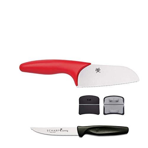 Kai Junior Kochmesser ab 6 Jahre TMJ-1000 plus SCHARFsinnig Pizza- und Steakmesser ultra-sägescharf