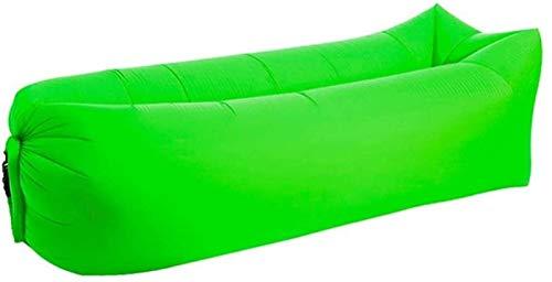 Chaise de plage de plage d'extérieur gonflable rapide Banana Canapé-lit pour dormir un sac paresseux canapé canapé canapé inclinable chaise tabouret pliable (Color : Fruit green Square)