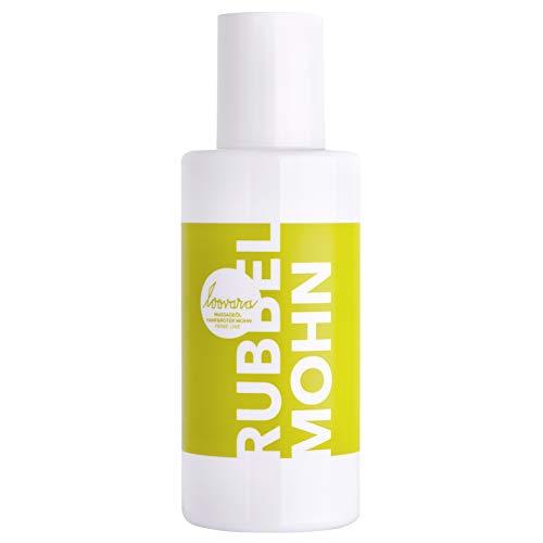 Loovara RUBBEL MOHN – Premium Erotik Massageöl (100 ml) | mit beruhigendem Hanf und rotem Mohn | dezenter Duft | Sex-Spielzeug geeignet | für Vorspiel und Partnermassage