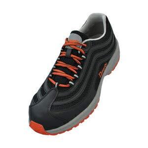 [ドンケル] Dynasty ライト 安全靴 スニーカー 軽量 通気メッシュ ハイテク樹脂先芯 JSAA B種 DL-27 メンズ ブラック・オレンジ 26
