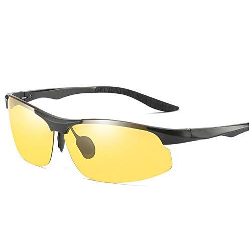 YFFSS Gafas de Sol para Hombre polarizadas Visión Nocturna para Todos los climas Gafas de Sol de Color Protección UV400 para Conducir