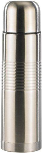 Rosenstein & Söhne Reise-Isolierflasche: Edelstahl-Isolierflasche mit Becher 0,5 Liter (Isolierflasche in Flaschenform)