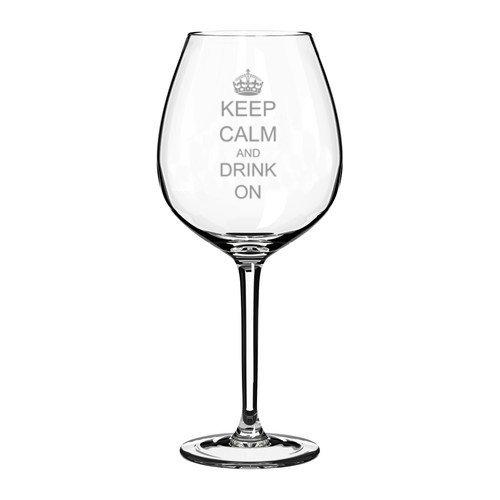 Copa de vino jumbo con texto en inglés