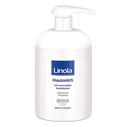 Linola Hautmilch bei trockener, zu Neurodermitis neigender Haut, 500 ml Lotion