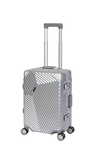 %Sale Travelhouse Roma Koffer Silber S-55cm Bordkoffer · Handgepäckkoffer Kabinenkoffer 44L Alu Rahmen mit Polycarbonat Hartschale