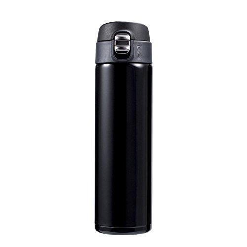 Botella de Agua Aislada al Vacío Vacío de la pared de la botella de acero inoxidable a prueba de fugas Mantiene Bebidas frías y calientes adecuados botella con material aislante de agua Doble para Adu