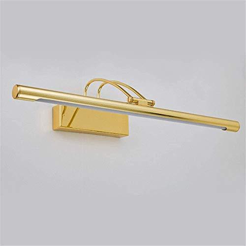 VOMI Spiegelleuchte mit Schalter Bad Schminklicht IP44 Wasserdicht Beleuchtung Nicht Dimmbare Badleuchte Wandbeleuchtung, Produktlänge: 410 mm (Gold) Eisen