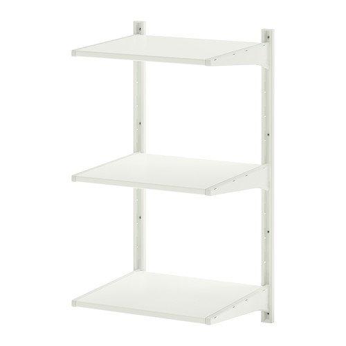 IKEA(イケア) ALGOT 壁用支柱 棚板 ホワイト