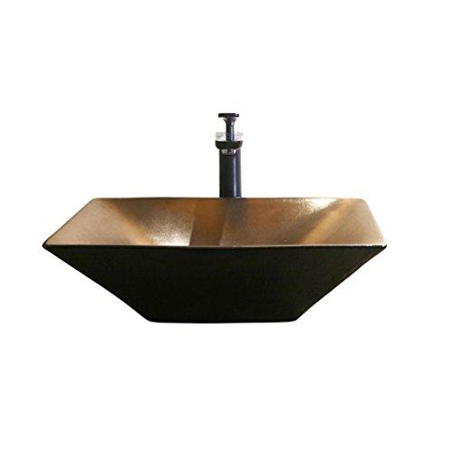 Verhoog opzetkom Plein keramisch sanitair Art Basin Wastafel Bronze Industrial Wind (50x38x13cm)