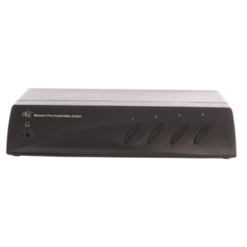 HQ SW-AV210 Audio/Video Switch, 4 Porte