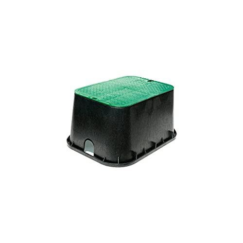 NDS 117BC 13 20-Inch Valve Box Overlapping Cover-ICV, Jumbo, 13' x 20', Black/Green