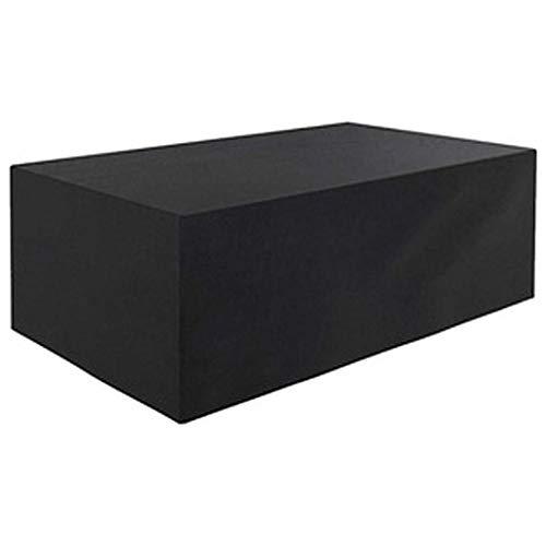 CTTAO Funda Protectora 90x90x90cm Lluvia Sol Protección, a Prueba de Viento, Cubierta para Muebles de jardín Polyester, para Muebles, Mesas y Sillas al Aire Libre, Sofás Exterior, Negro