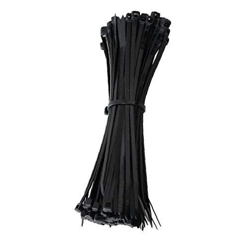 100Pcs Nylonkabelbinder Heavy Duty Durable Wire Ties Selbsthemmend Binder für Innen- und Außenanwendungen