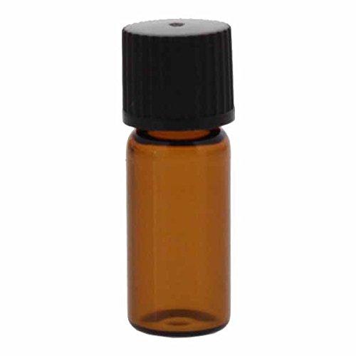 15 x Mini-Gewindeflaschen braun 1.5ml bis max. 2ml, Grösse: 11,6 x 32mm, inkl. Verschluss 136 schwarz mit Innenkonus