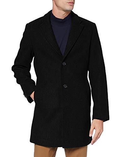 TOM TAILOR Herren Classic Wollmantel, 29999-Black, L
