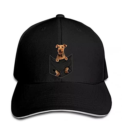 FOMBV Berretto da Baseball Uomo Welsh Terrier Pocket Donna Snapback Cappello con Visiera Regolabile Stampato Cappello Visiera Regalo