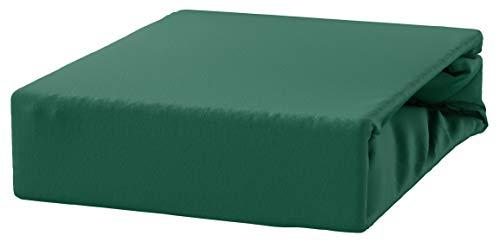 #4 Kinder Jersey Spannbettlaken, Spannbetttuch, Bettlaken, 70x160 cm, Grasgrün