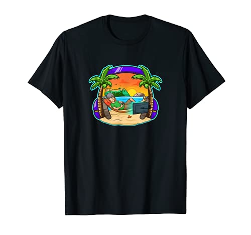 Gamer Island Paradise Jeu vidéo Motif graphique T-Shirt