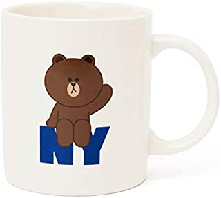 LINE FRIENDS Coffee Mug - Hello Brown Character New York Edition Ceramic Cup