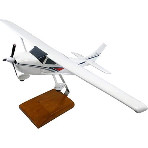 High Flying Models Cessna 182 Skylane (White) Limited Edition Large Mahogany Model