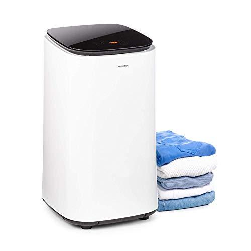 KLARSTEIN Zap Dry - Asciugatrice, 820 W, Capacità: 50 L, Salvaspazio, Cestello in Acciaio Inox, Alloggiamento in Plastica, Pannello di Controllo Touch, Display LED, Bianco