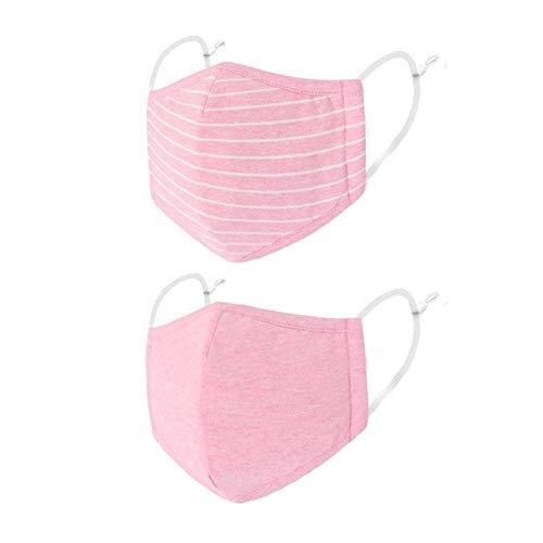 VESNAHOME 2 Stück, rosa, zwei Stile, Baumwolltuch, hautfreundlich, Ohrhänger, bequem, empfohlen für Kinder ab 8 Jahren (abhängig von der tatsächlichen Situation)