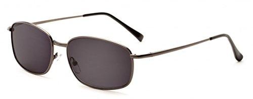 2.00 Metall Gun Grau Lesebrille Sonnenbrille UV Schutz Getönte Gläser Männer Retro Vintage Zeitlos Fall