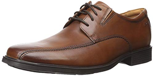 CLARKS Men's Tilden Walk Oxford, Dark Tan Leather, 13 M US