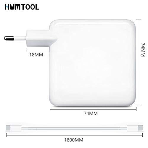 USB C Ladegerät, HUMTOOL 61W USB C Adapter für Mac Book Pro, 61W Typ C Ladegerät inklusive USB C-Kabel Kompatibel mit Mac Book Air / Pro / Retina, iPad Pro, iPhone 11/11 Pro / Pro Max, HUAWEI, SAMSUNG