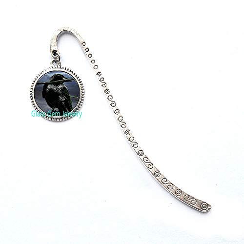 Charming Jewelry Q0217 Krähenbild, Herrenschmuck, Rook-Pullover-Kette, versilbert, Lesezeichen, Geschenk für Damen